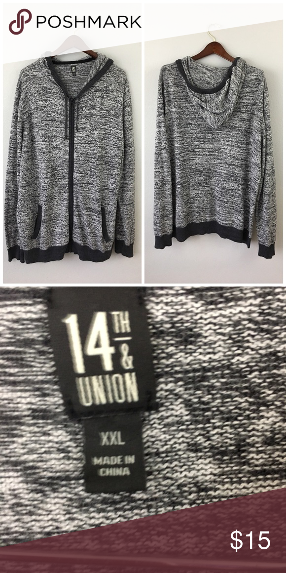 14th & Union Oversized Tunic Grey Zip Up Hoodie 14th & Union Oversized Tunic Grey Zip Up Hoodie. Size 2X (XXL). This is so comfortable and easy to style.  Thank you for looking at my listing. Please feel free to comment with any questions.  •Condition: Excellent, no visible flaws.   ✨Bundle and save!✨10% off 2 items, 20% off 3 items & 30% off 5+ items! C1 14th & Union Tops Sweatshirts & Hoodies