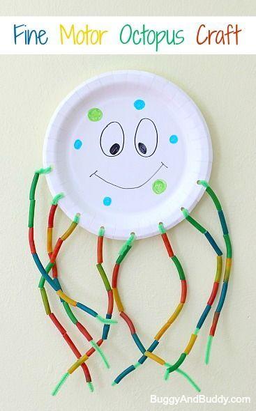 Http Buggyandbuddy Com Fine Motor Jellyfish Craft For Kids