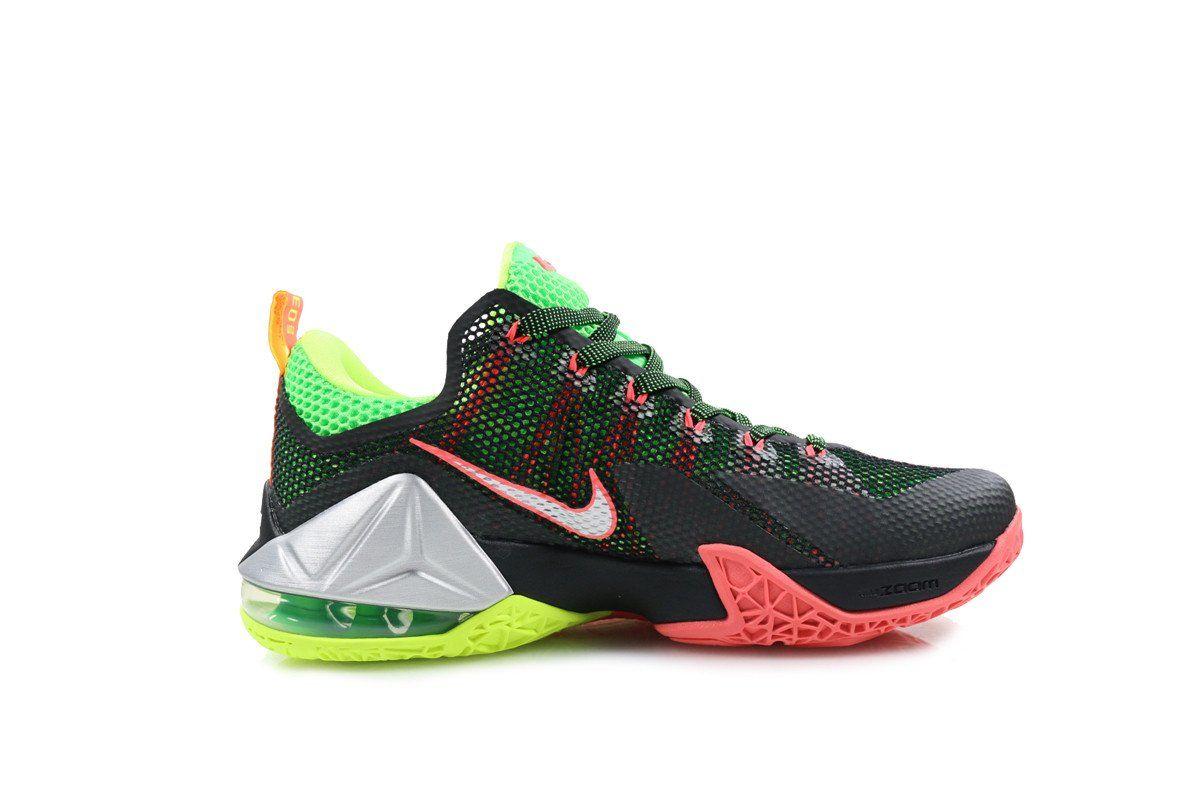 size 40 593ca bcf3b Amazon.com  Nike Lebron XII Low Remix 12 Men Basketball Sneakers New Black   Shoes