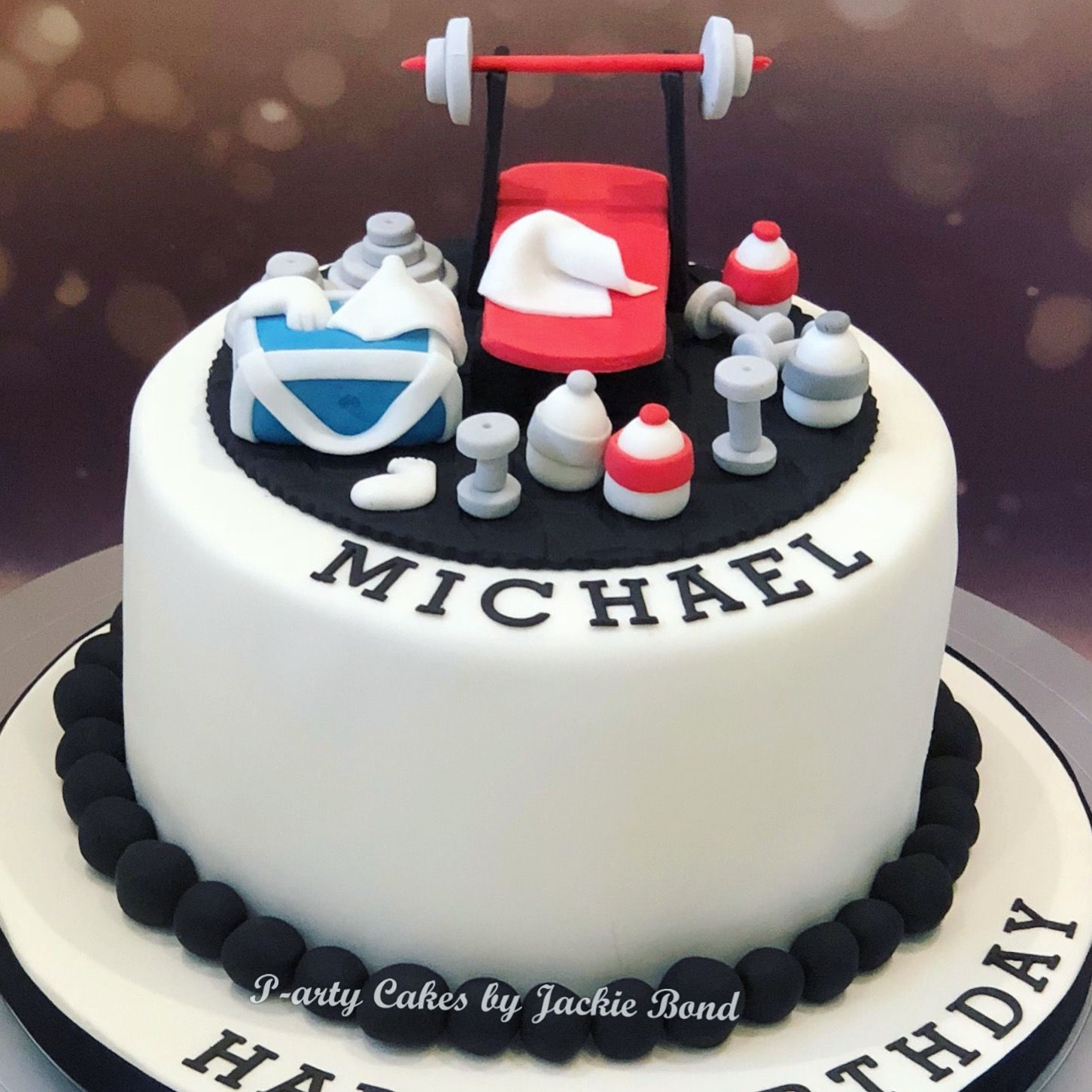 Weightlifting Cake With Images Cake Gym Cake Homemade Cakes
