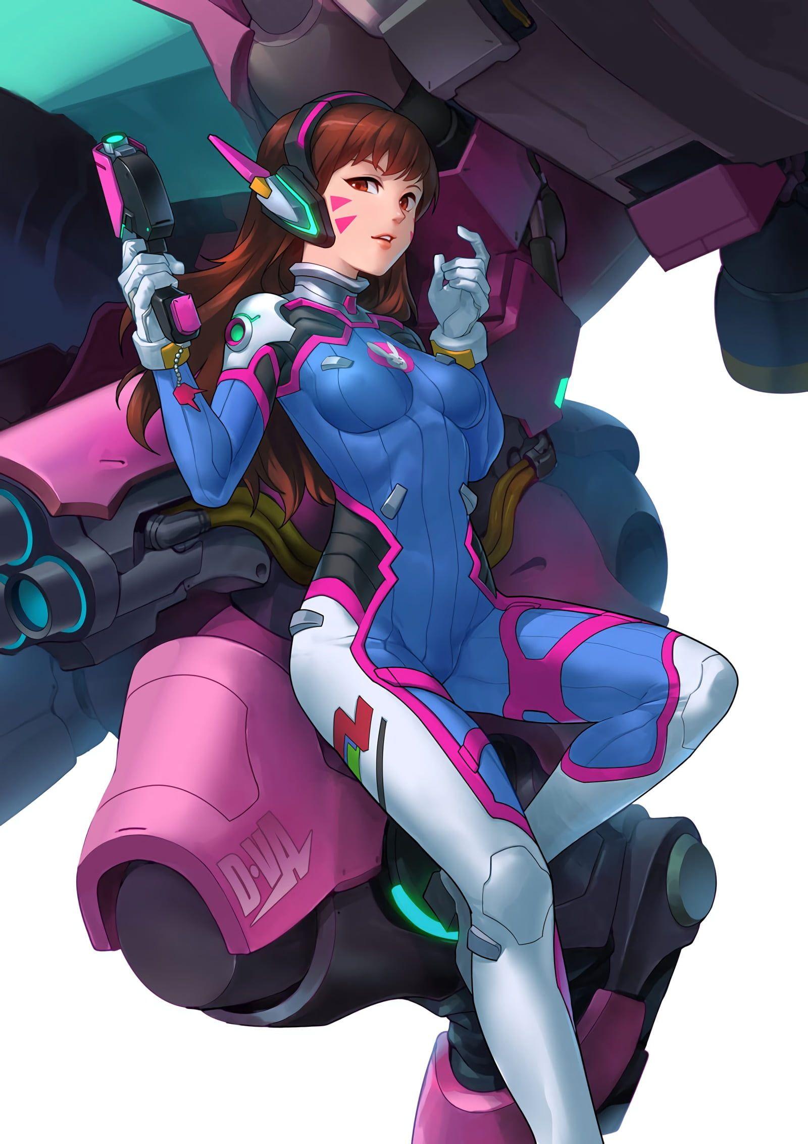 redhaired female character illustration digital art