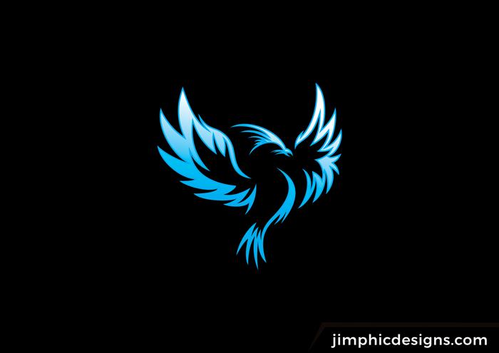 Blue Phoenix Logo Colorful Logo Design Photo Logo Design Bird Logo Design