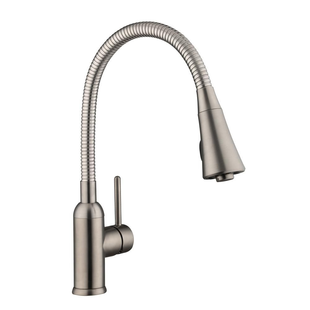 Bodell Single Handle Pulldown Laundry Faucet In Stainless Steel