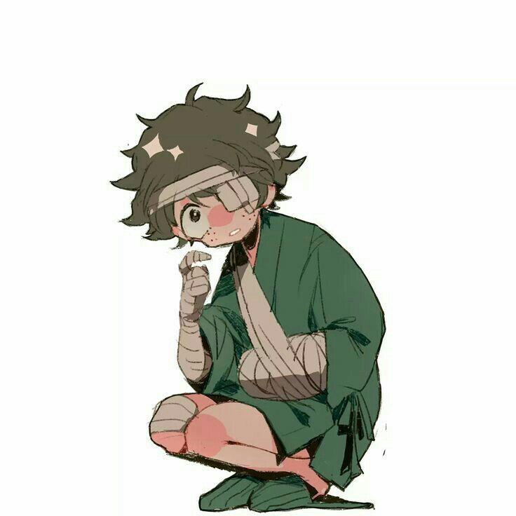 Midoriya Deku Izuku Bandages Cute My Hero Academia