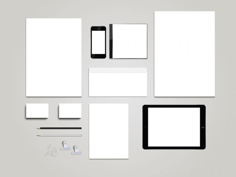 Blank Stationary Template + Mockup for Illustrator