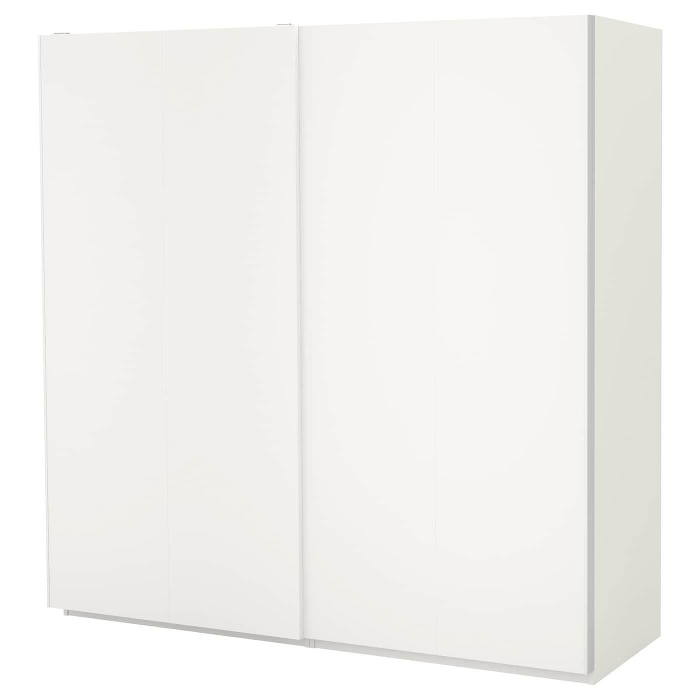 PAX Wardrobe white, Hasvik white 78 3/4x26x79 1/4