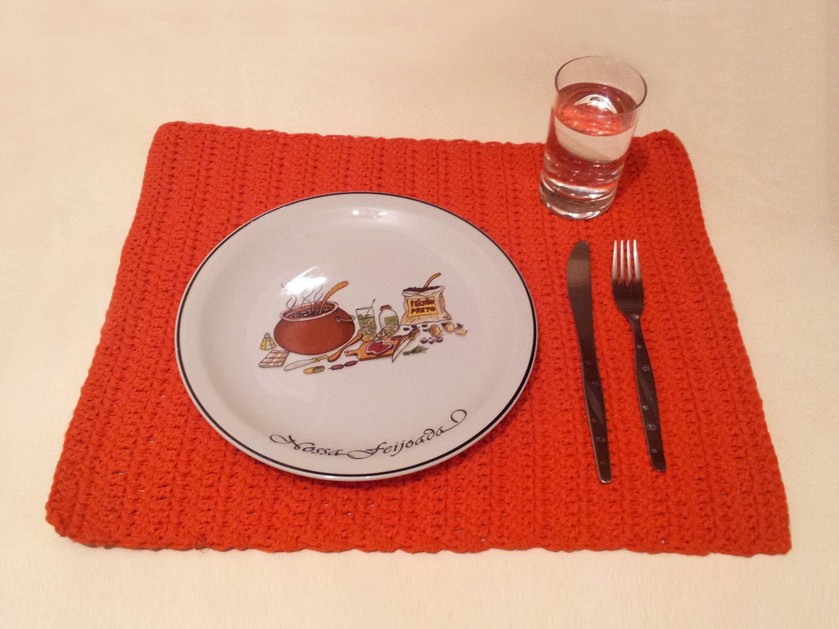 jogo americano Lunch - crochet -  barbante 85% algodão - 15 06 2014