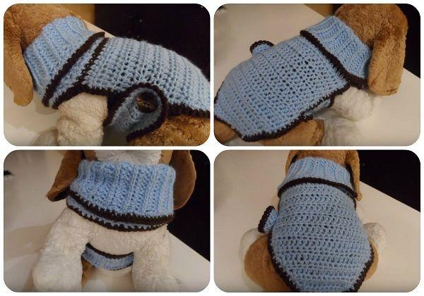 Amigurumi Tutorial Snoopy : Come fare cappottino su misura per cani tutorial crochet dog