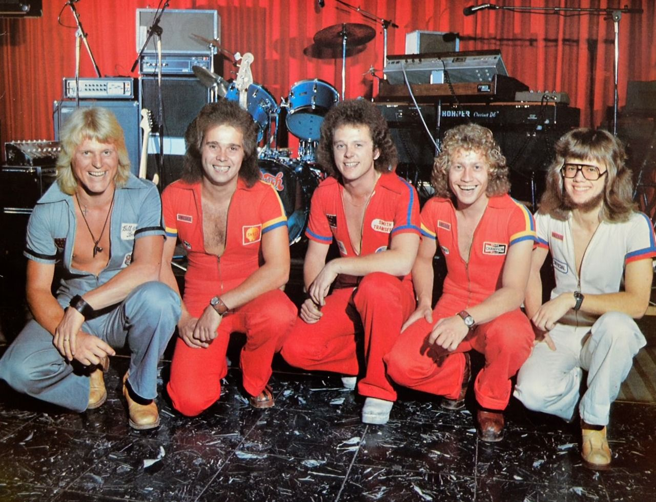 Dansband, 1976. (Please check out haircut on your right).  Illya, Darling