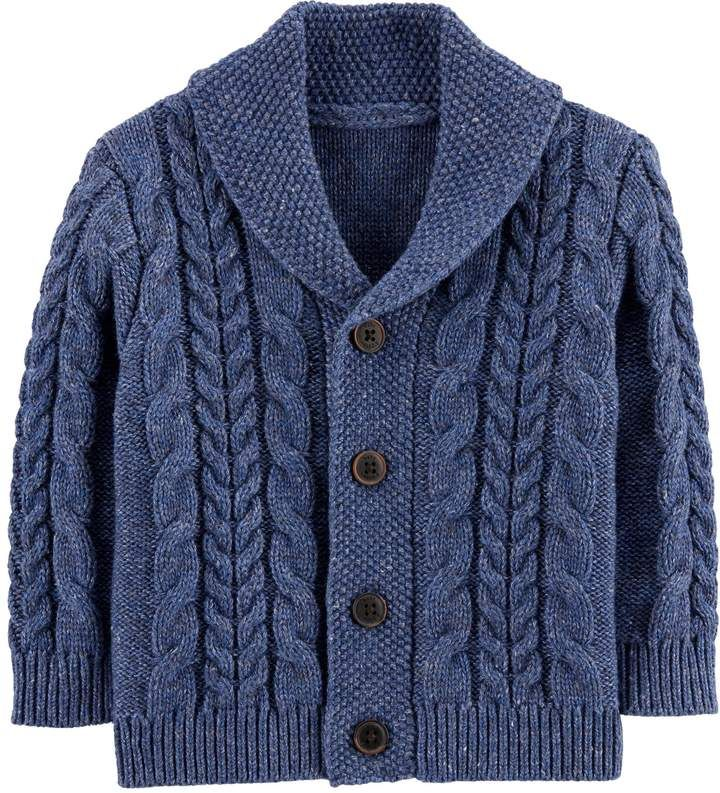 Photo of Baby Boy Oshkosh B'gosh® Shawl Collar Cardigan