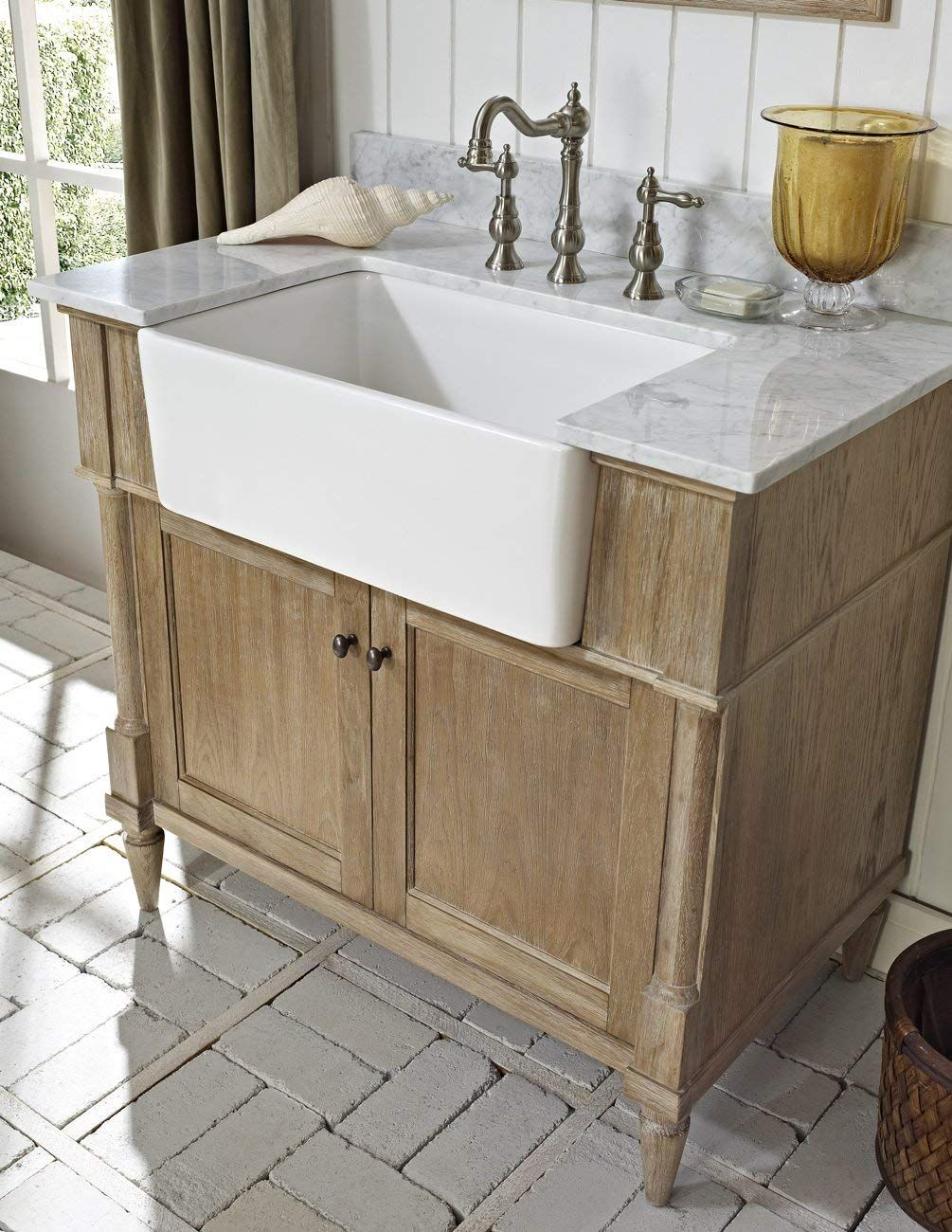 Fairmont Designs 142 Fv36 Rustic Chic 36 Farmhouse Vanity Base Cabinet Only Weathered O Farmhouse Bathroom Vanity Farmhouse Sink Vanity Unique Bathroom Vanity