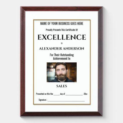 Create your own award certificate DIY Photo logo