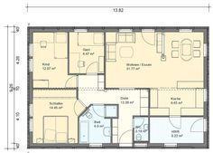 BGX10 Bungalow Grundriss 106qm 4 Zimmer Grundriss