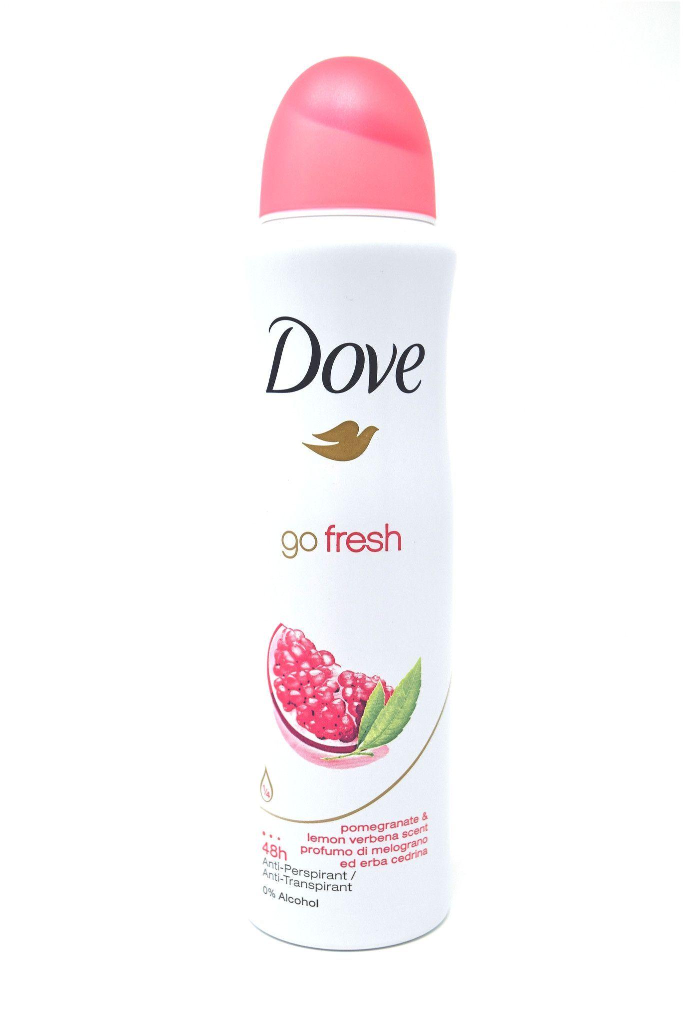 Dove Go Fresh Pomegranate Lemon Verbena Scent Antiperspirant Deodorant Antiperspirant Deodorant Deodorant Deodorant Spray