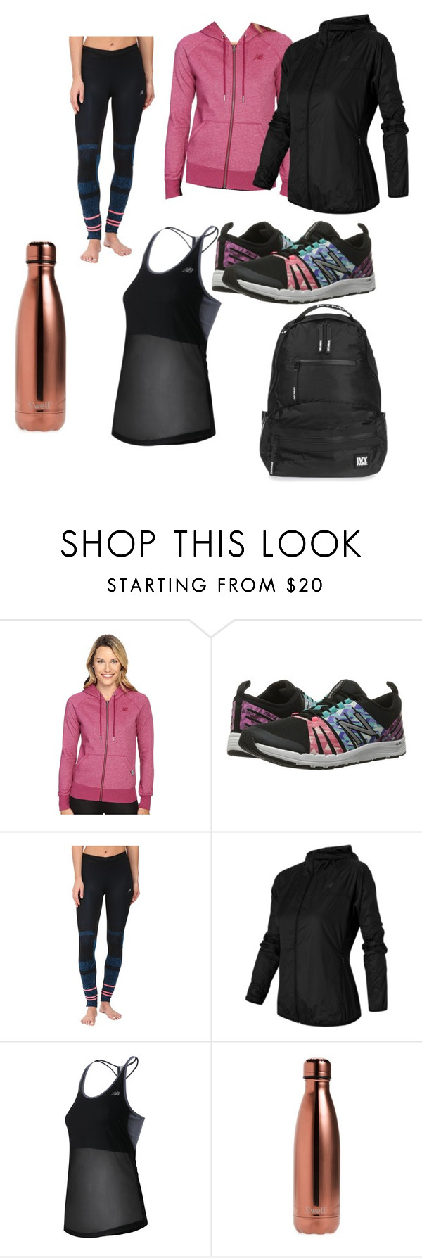 """""""Run the World in New Balance"""" by maysnow on Polyvore featuring New Balance, S'well, Topshop and NewBalance"""
