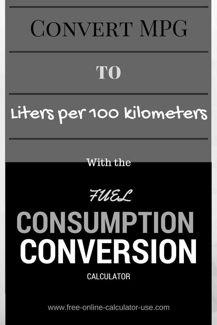 This Fuel Economy Conversion Calculator Will Convert Liters Per 100 Kilometers To Miles Gallon Us And Imperial As Well