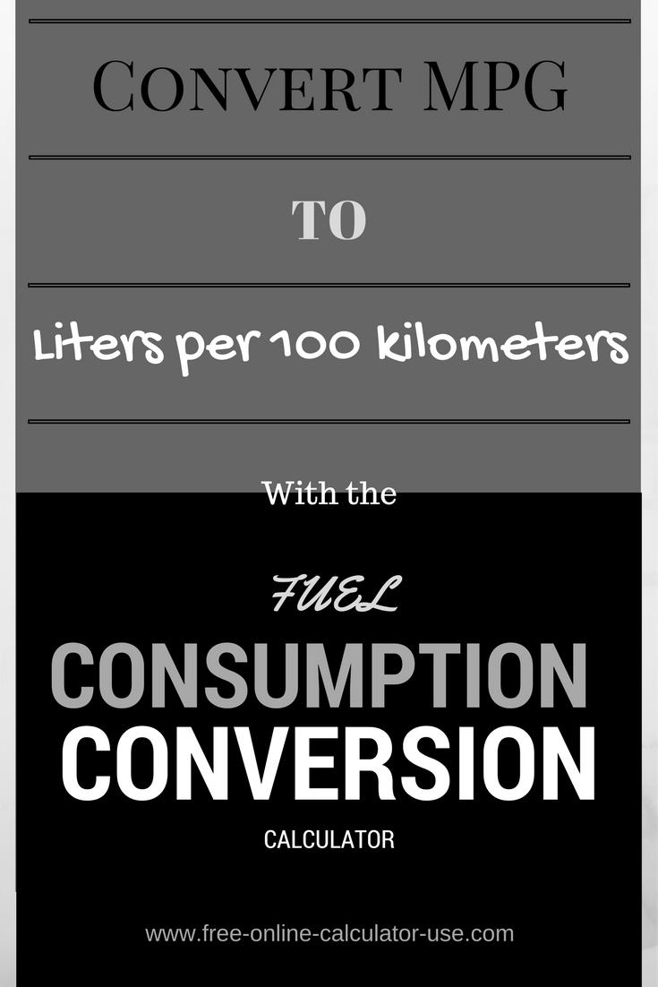 This fuel economy conversion calculator will convert liters per this fuel economy conversion calculator will convert liters per 100 kilometers to miles per gallon nvjuhfo Gallery