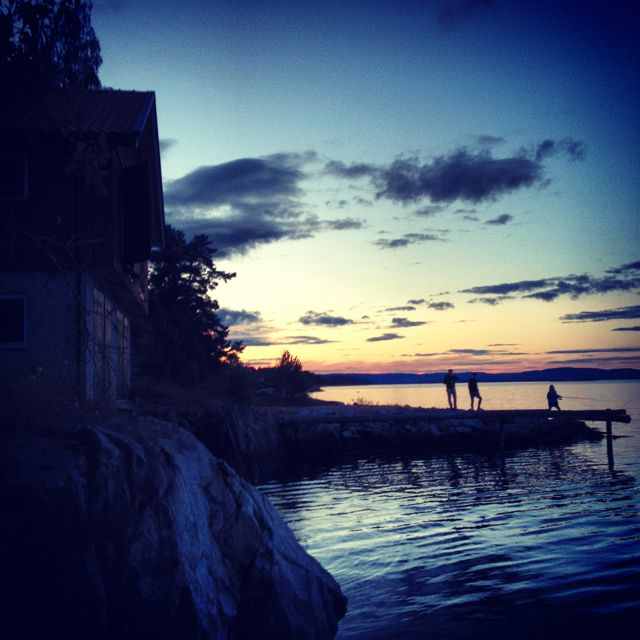 Late Norwegian summer night by the sea
