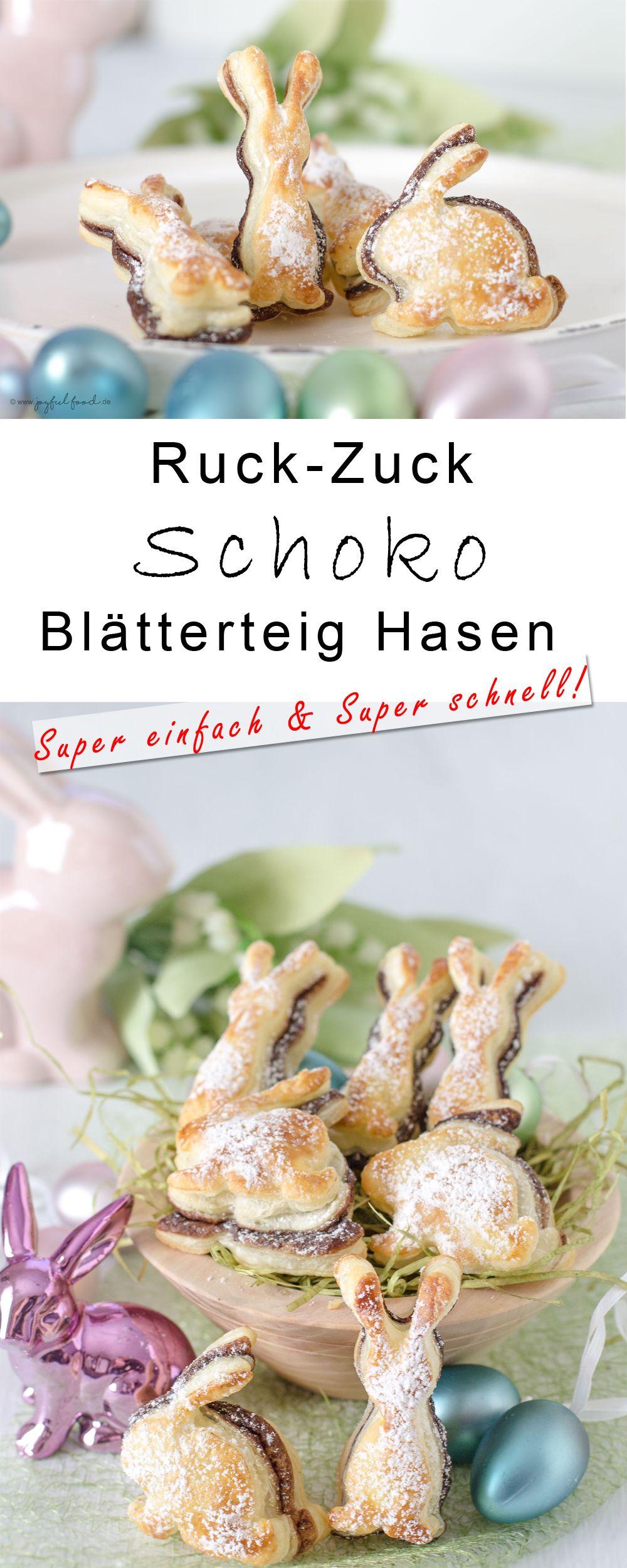 Ruck-Zuck Schoko Blätterteig Hasen | Joyful Food #frühlingblumen