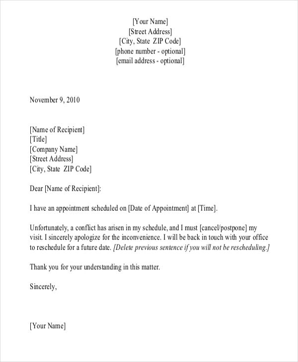 appointment letter templates free sample example format download - sample appointment card template