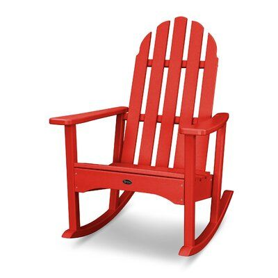 Trex Outdoor Cape Cod Recycled Plastic Rocking Adirondack Chair