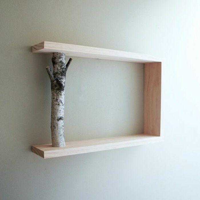 Wandboard selber bauen  wandregal selber bauen ast holz kreative diy idee wandgestaltung ...