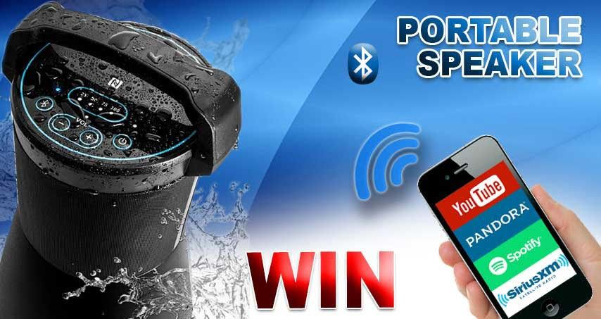 Win Avx Audio Waterproof Outdoor Bluetooth Speaker Contest March 2019 With Images Outdoor Bluetooth Speakers Bluetooth Speakers Portable Bluetooth Speaker