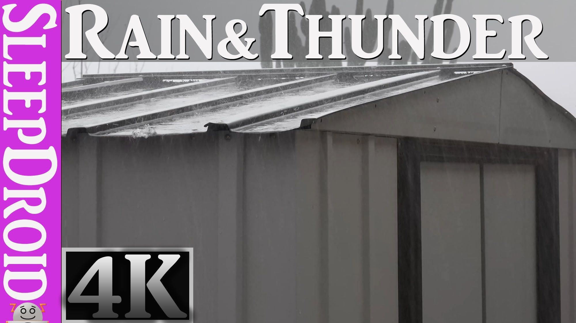 4k Video 2 Hours Of Heavy Rain And Thunder On A Metal Roof Storage She Rain And Thunder Roof Storage Storage Shed