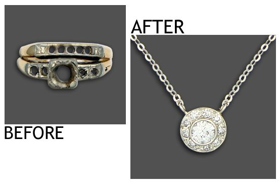 Turn Engagement Ring Into Pendant Google Search Making Old New