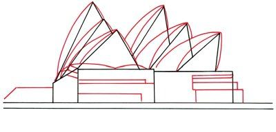 Draw The Sydney Opera House In 5 Steps