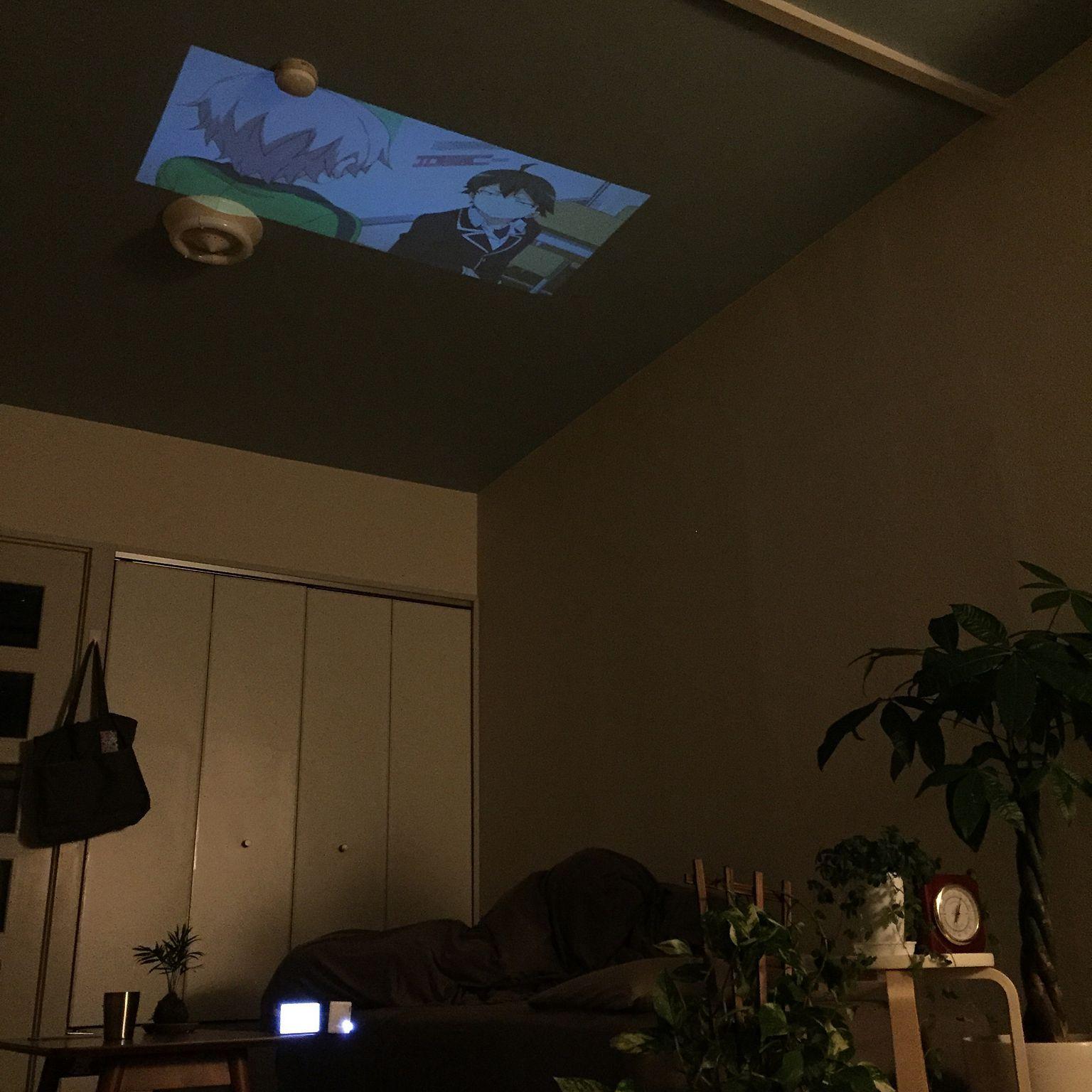 壁 天井 一人暮らし 賃貸 プロジェクターのインテリア実例 2015 04 16 02 45 07 Roomclip ルームクリップ インテリア インテリア 実例 家