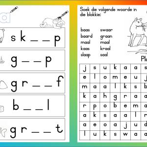 aa-woorde | afrikaans | Pinterest | Afrikaans, Preschool activities ...