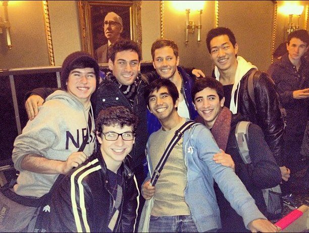 The Newsies Cast Arrive At The Nederlander Theatre For The First Time Andy Richardson Tommy Bracco Thayne Jasperso Newsies Nederlander Theatre Music Theater