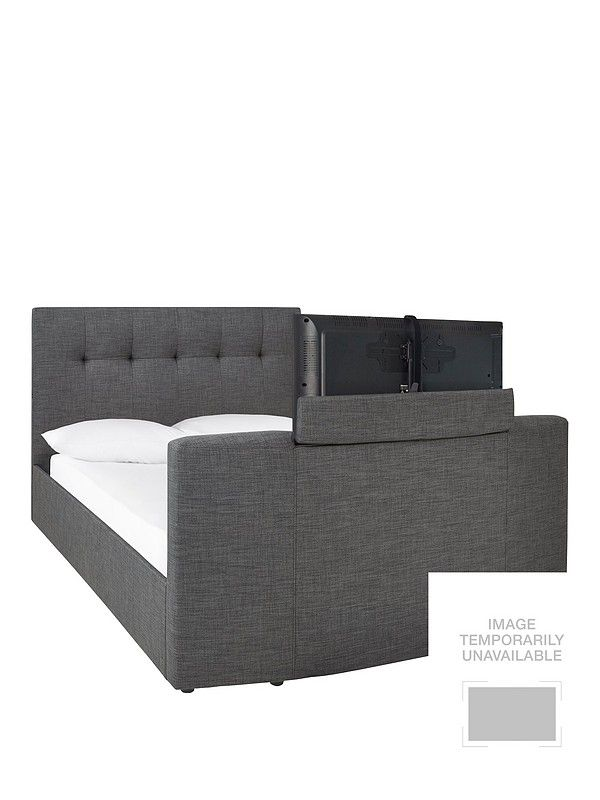 Rialto Fabric Tv Bed With Bluetooth Usb Charging And Mattress