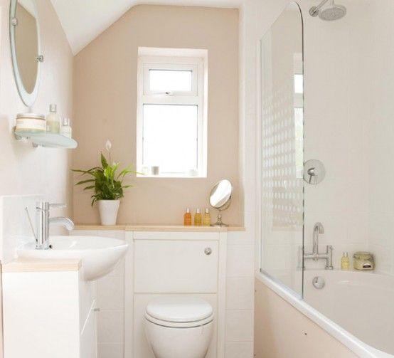 Beige Bathroom Design Ideas toilet part hidden | guest cottage bath on small bathroom with beige color, small bathroom paint colors benjamin moore, green and brown bathroom ideas, small bathroom with pocket door,