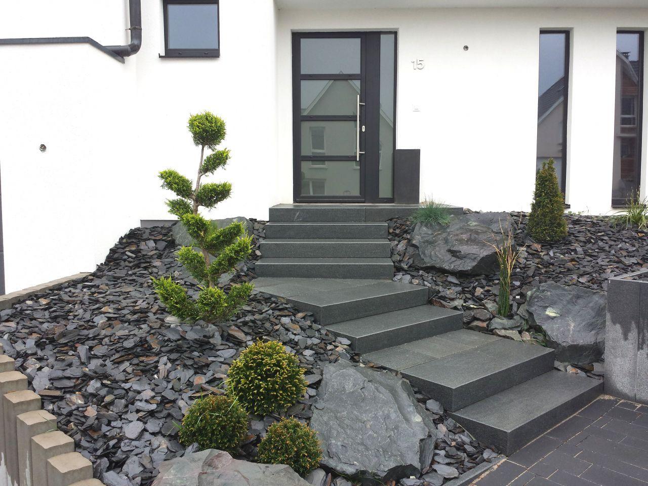 Entrée De Maison Avec Marche notre maison moderne q-bi© en alsace - projet terrasse en