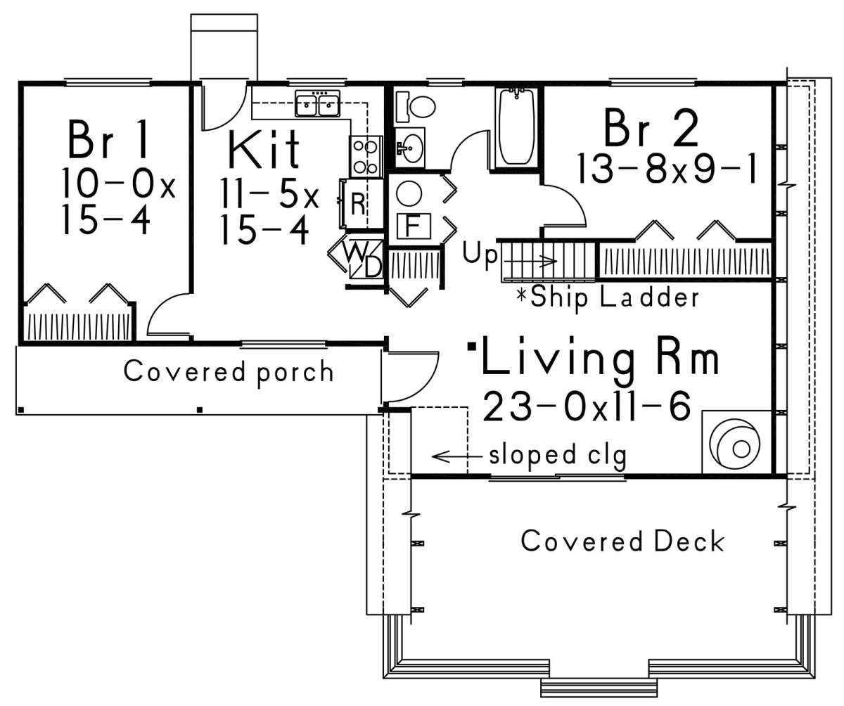 House Plan 5633 00400 A Frame Plan 1 312 Square Feet 2 Bedrooms 1 Bathroom A Frame Cabin Plans A Frame House Plans House Plans