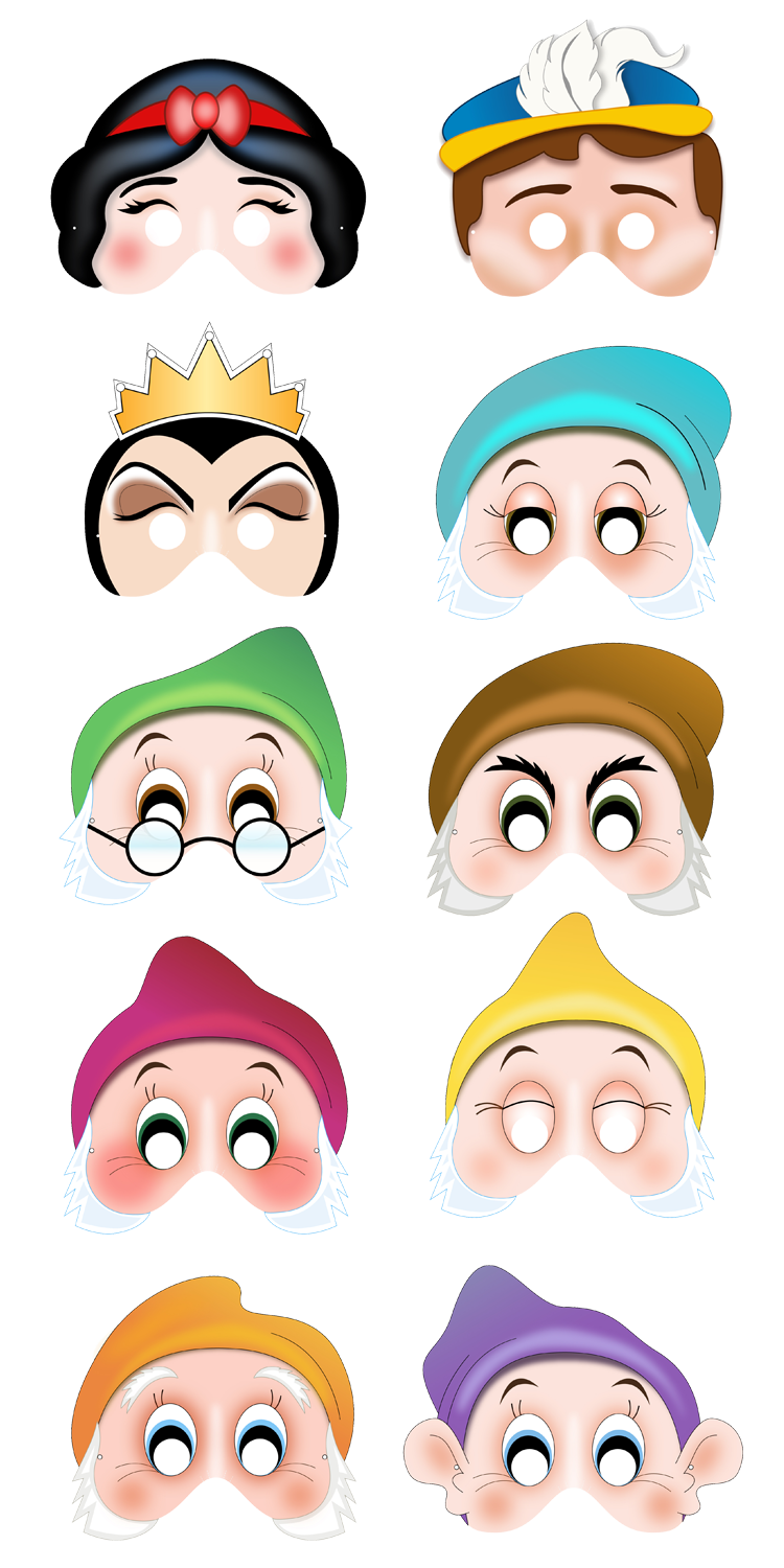 Printable Snow White Masks 15