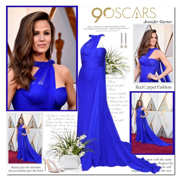 """Jennifer Garner at the Oscars 2018!!"" by lilly-2711 ❤ liked on Polyvore featuring Etiquette, H&M, La Regale, Kenneth Jay Lane, Gianvito Rossi, RedCarpet, Oscars, versace and jennifergarner"