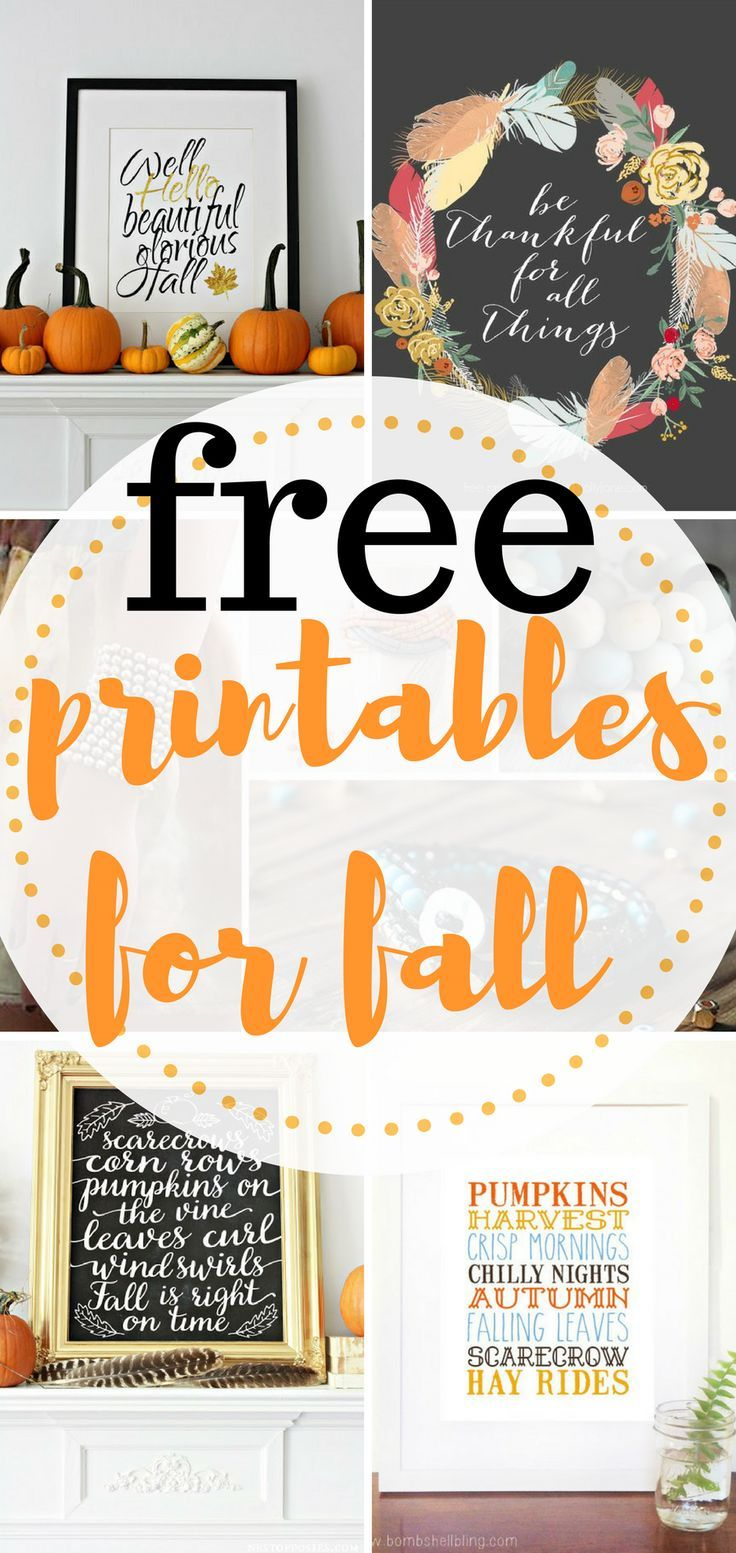 Inexpensive printables for fall. These Free Fall Printables will be ...
