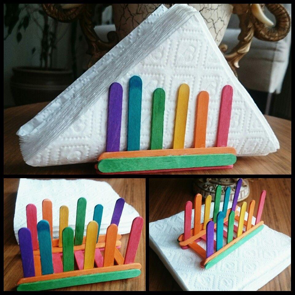 Popsicle Stick Craft Napkin Holder Craft Trials Craft Stick