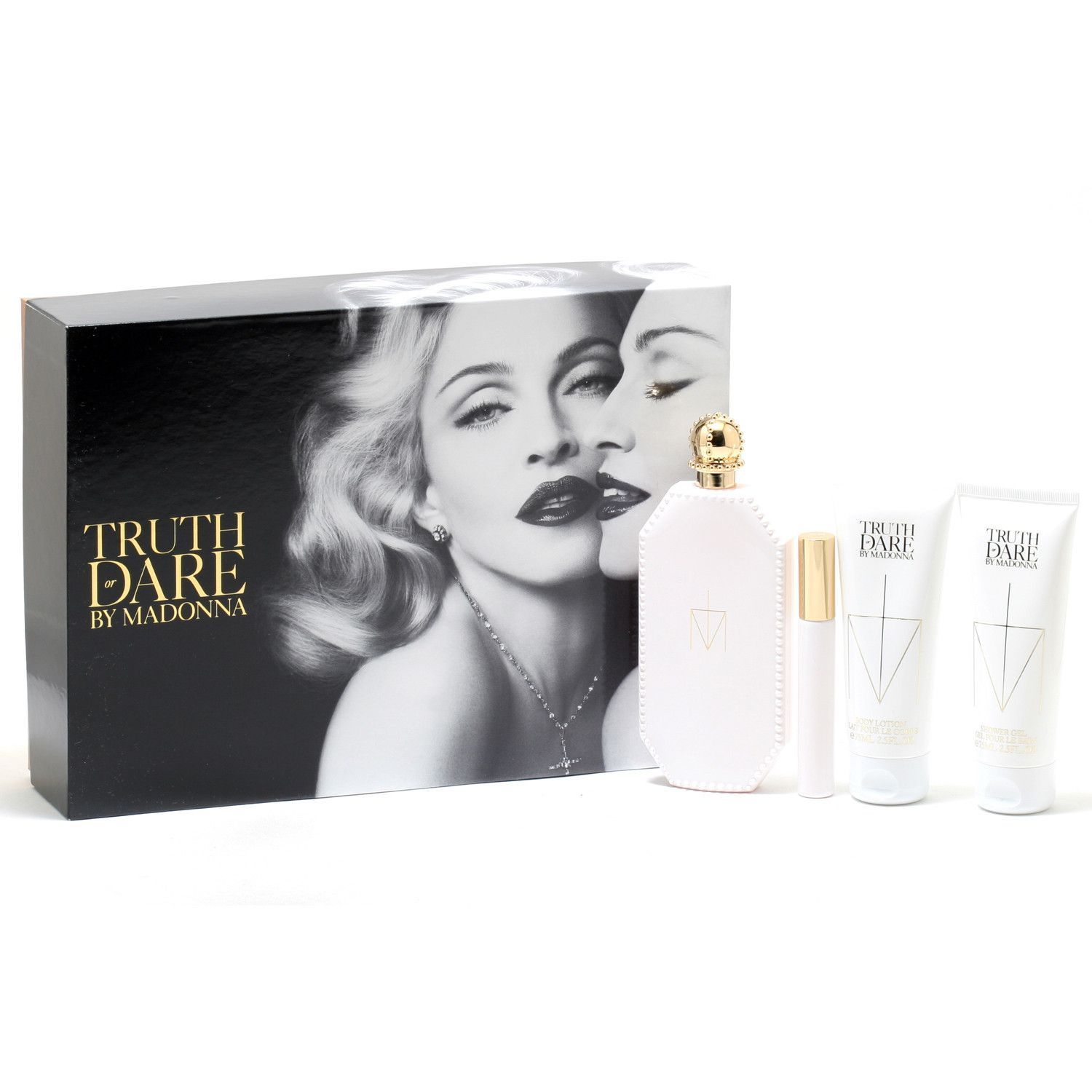 Madonna Truth Or Dare 2.5 Oz EDP Spray/2.5 Oz Body Lotion/2.5 Oz Shower Gel/.33 Oz Rollerball