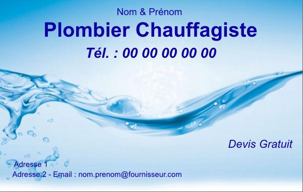carte de visite plombier Carte de visite Plombier | Modèle Gratuit à Personnaliser (avec