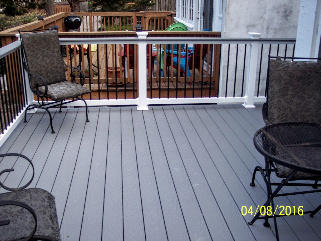 Trex Pebble Gray Deck Colors Grey Covered Decks New