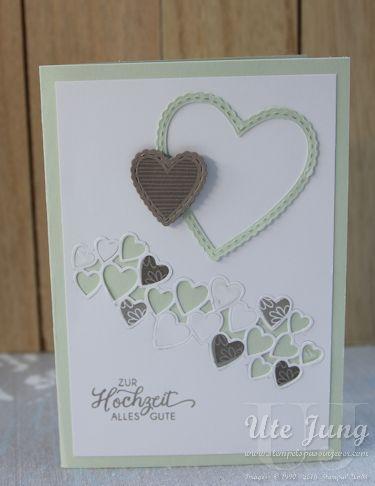 Hochzeitskarte mit dem Stempelset Herzenssache #stampinup!cards