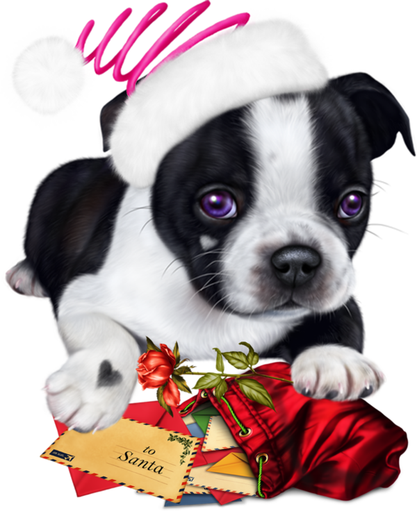 Chiens Dog Puppies Wallpapers Dessin Chien Noel Animaux De Noel