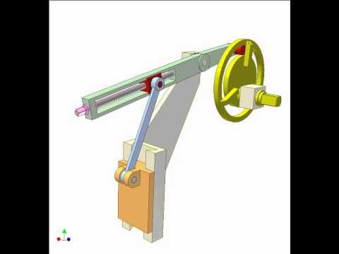 Cam And Crank Slider Mechanism 3 Youtube Mechanika 2