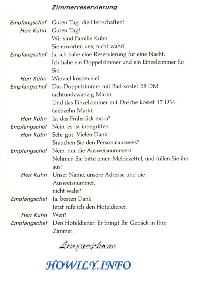 German For Beginners Reserving A Room In German German Language German Language Learning Learn German