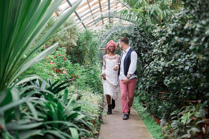 Cactus Wedding Inspiration Shoot in Botanical Garden