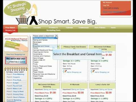 how to personalize your kc strategic shopping price match grocery